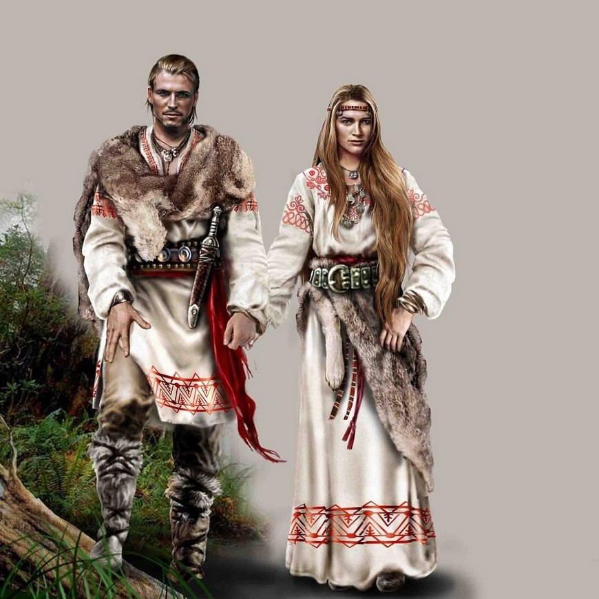 одежда древних славян фото положения