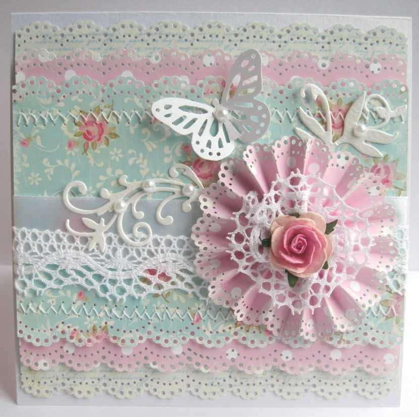 Бумажные цветы для открытки скрапбукинг, сделать