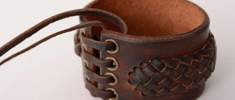 В моде браслеты из кожи