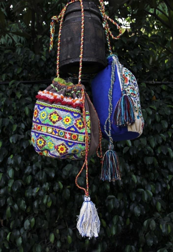 сумка мешок в бохо стиле