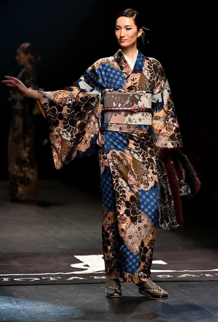 Японское кимоно этно-стиль