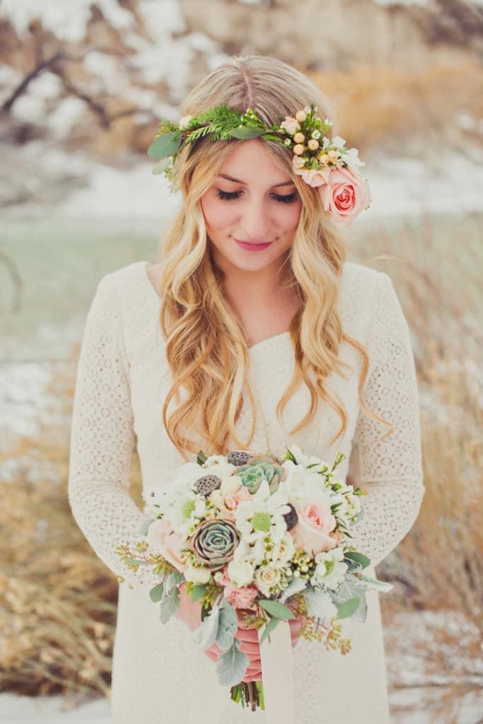 прическа для свадьбы в стиле бохо