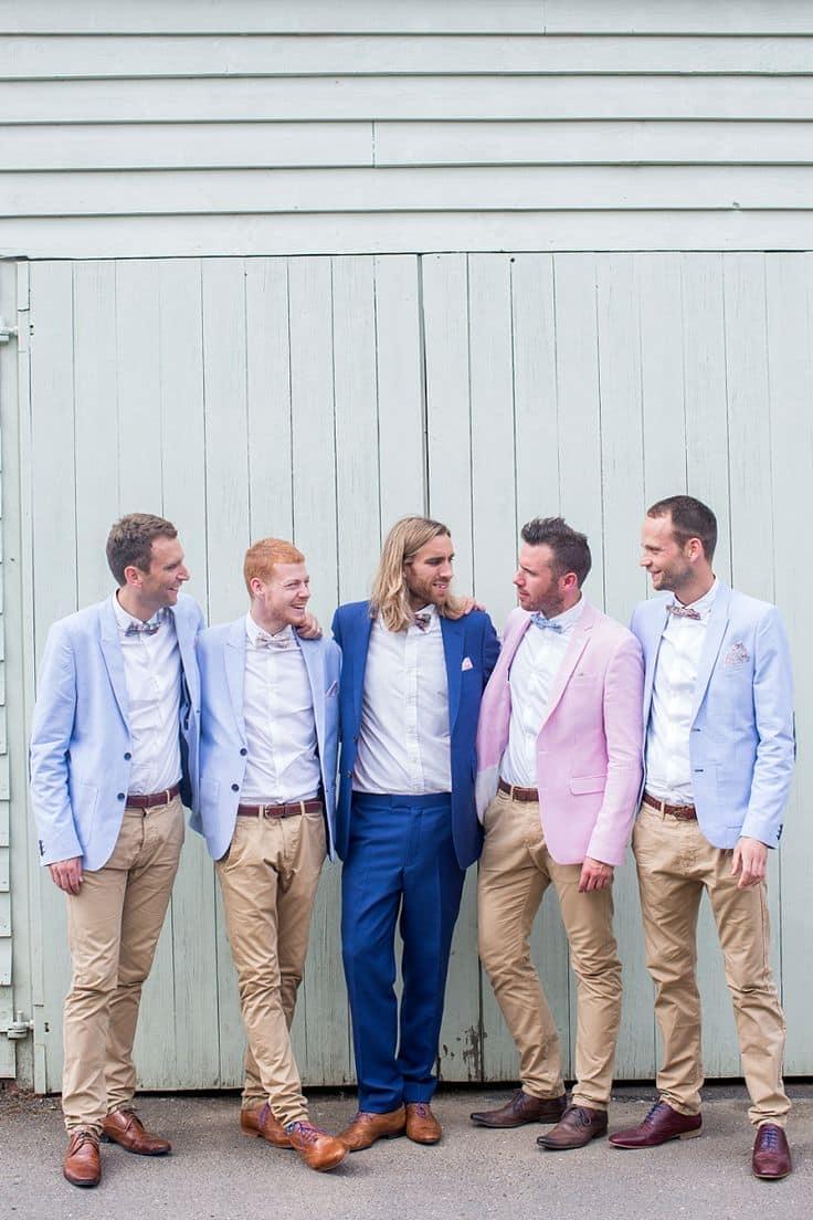 Костюм и галстук жениха на свадьбу