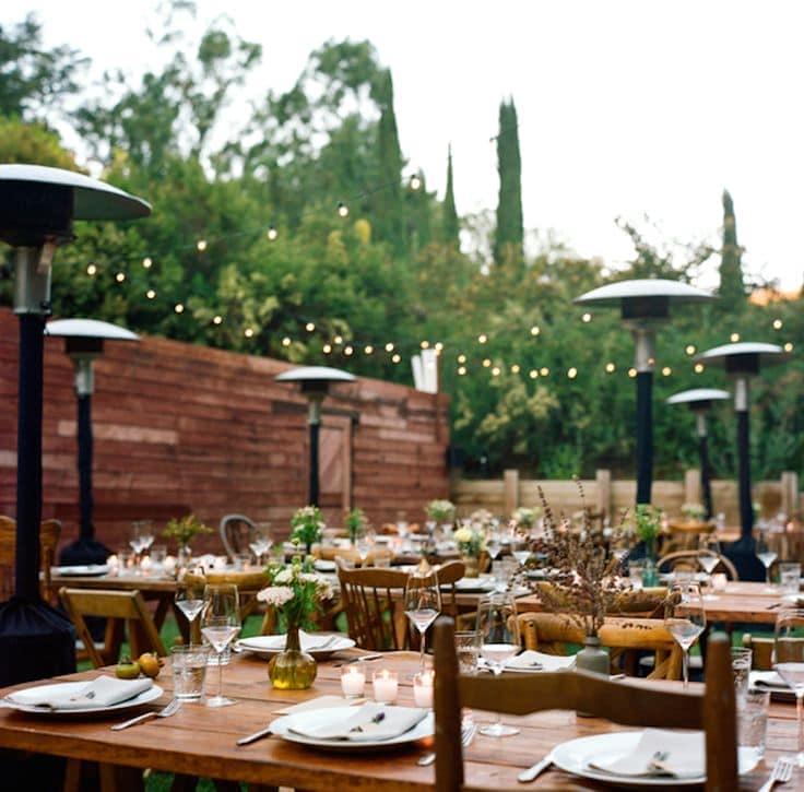 оформление ресторана для свадьбы Бохо