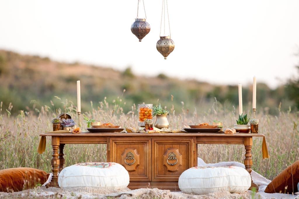 Стиль бохо - свадебный пикник