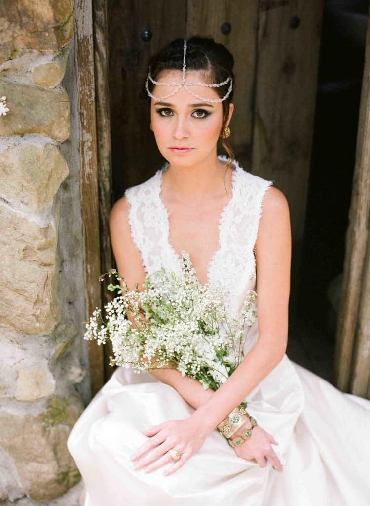 аксессуары в стиле бохо для невесты