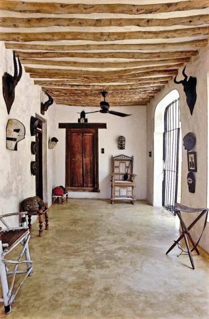 потолок -африканский интерьер
