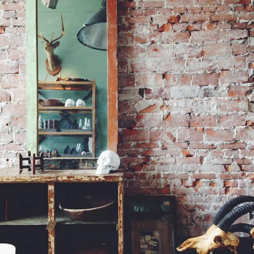 винтаж в интерьере-отделк стен