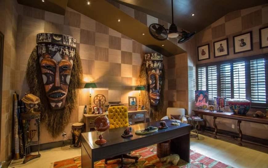 кабинет в африканском стиле
