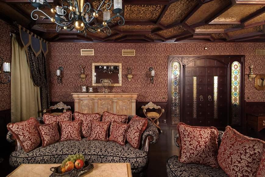 Гостиная в восточном стиле фото