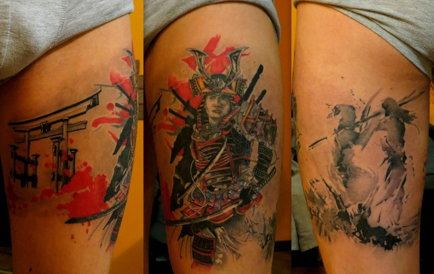 картинки тату самурая