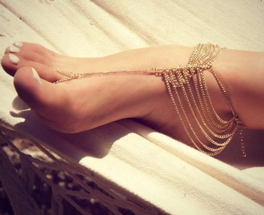 восточные украшения-браслет на ногу