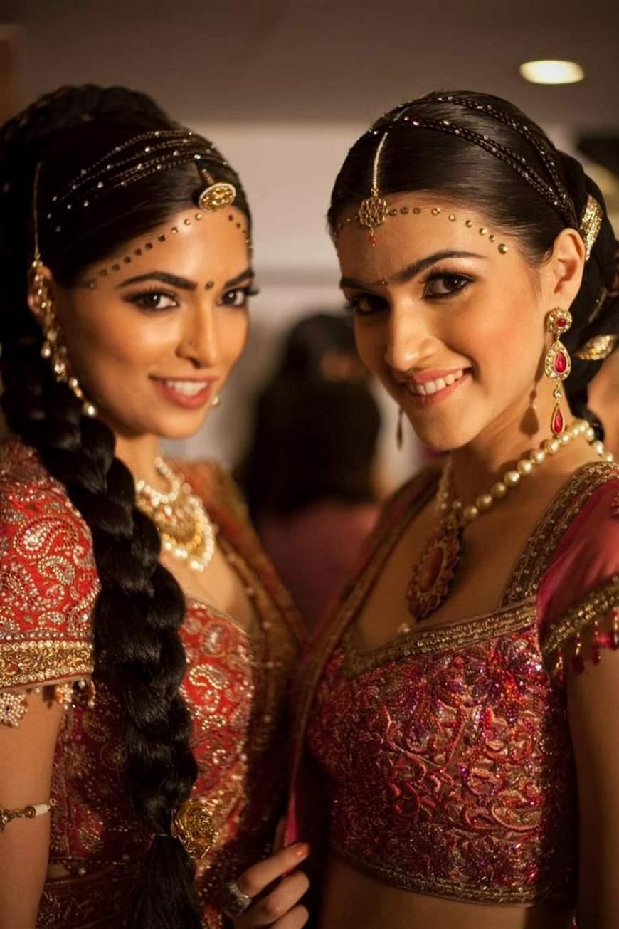 индийские прически на длинные волосы фото