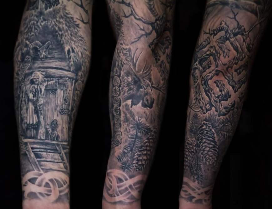 славянская татуировка