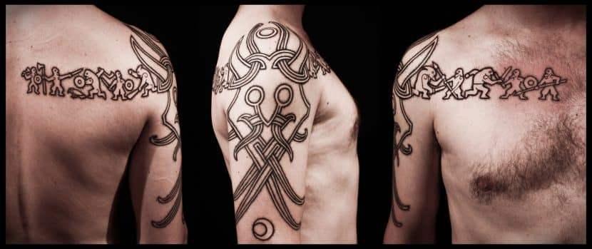 Языческие татуировки всегда несут в себе определенный смысл.