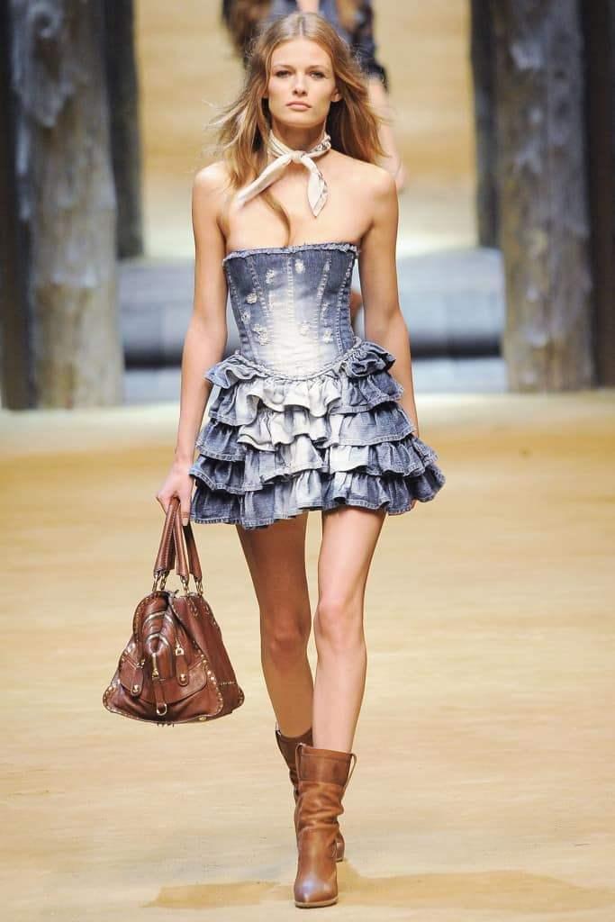 Кантри- джинсовое платье
