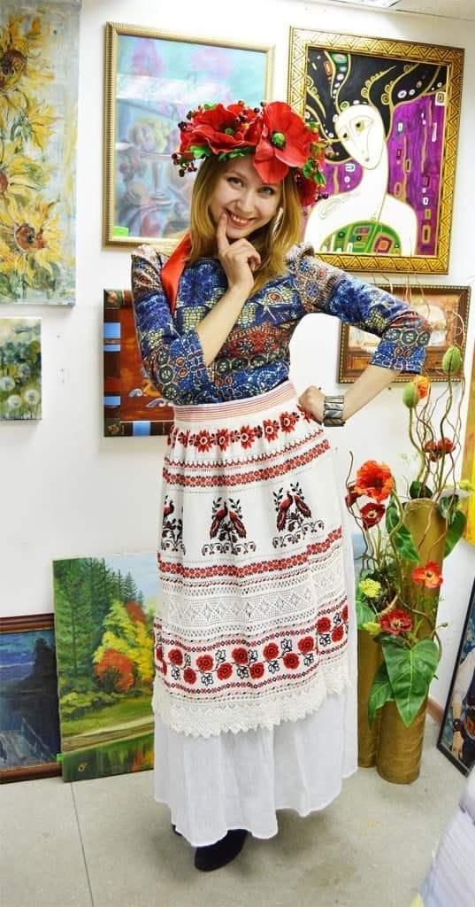 Юбка со славянской вышивкой