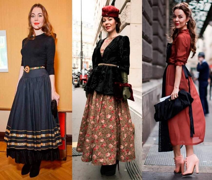 Образы в винтажном стиле