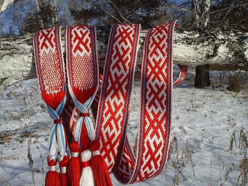 Пояс со славянским орнаментом