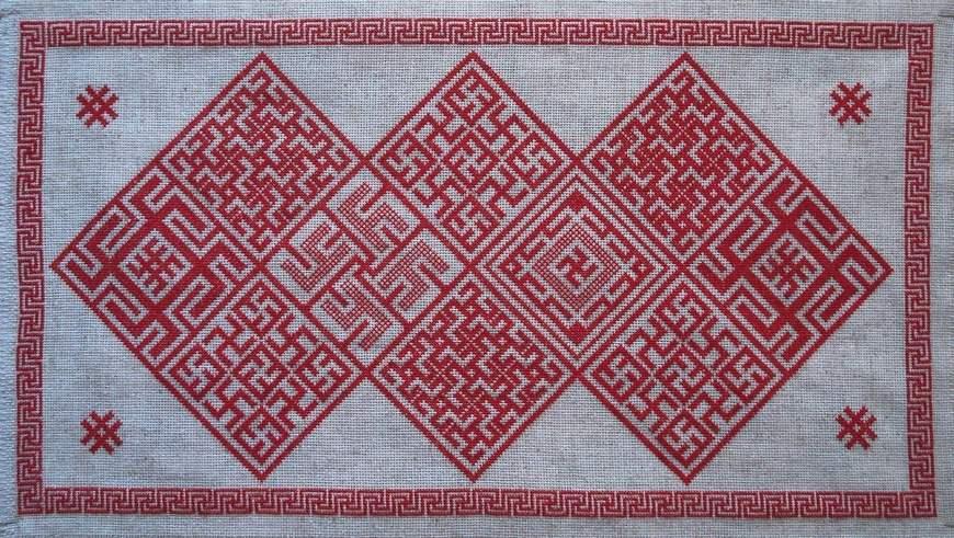 славянская схема вышивки