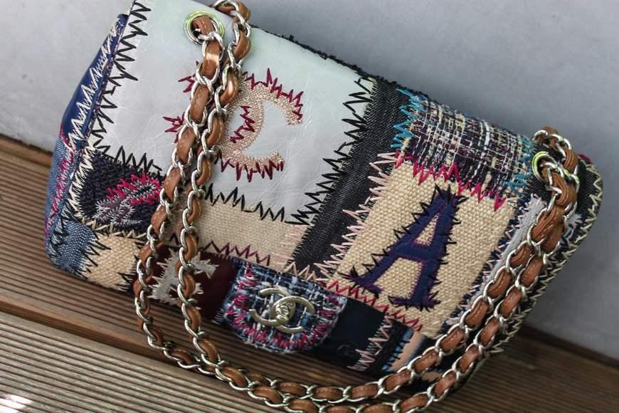 de2607bca604 Оригинальная сумочка пэчворк с вкраплением джинсовых лоскутков
