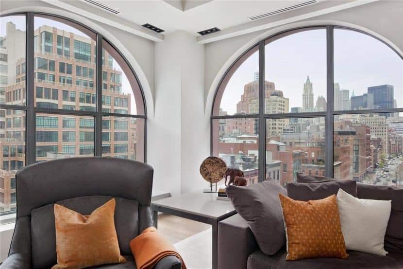 Большие окна в стиле лофт