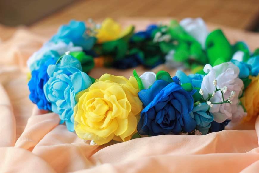 Венок из цветов на голову своими руками фото 215