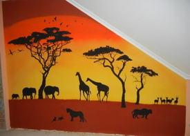 Стены в африканском стиле