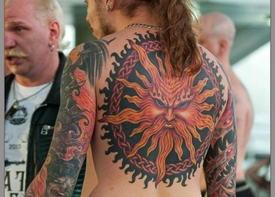 Этно татуировка солнца