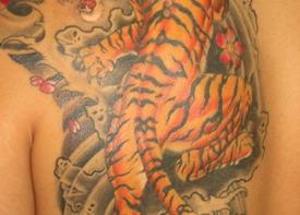 Японская татуировка тигра