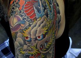 Японская татуировка дракона