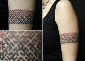 Татуировки с белорусским орнаментом