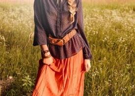 Деревенский стиль для девушек