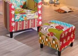 Мебель в технике пэчворк