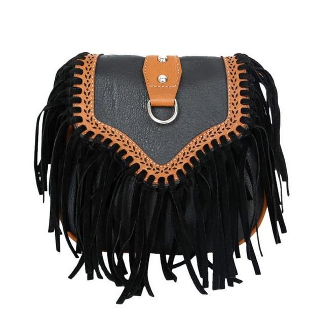 сумка бохо с бахромой