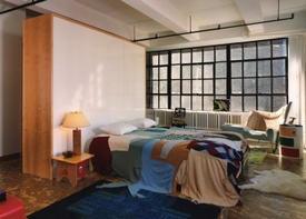 Спальни в стиле лофт