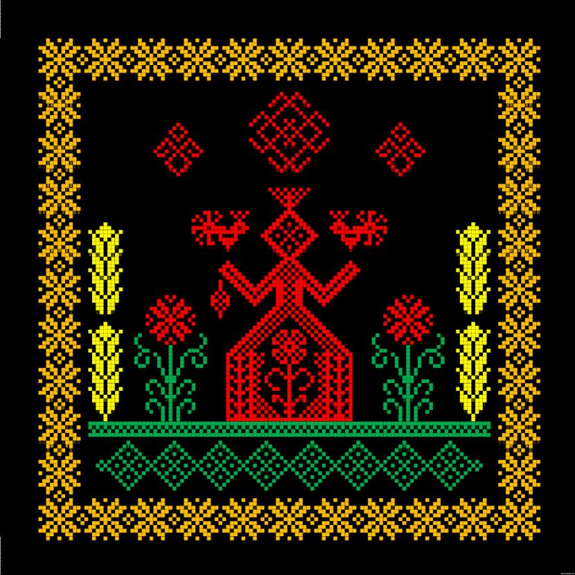 Пример схемы для вышивки