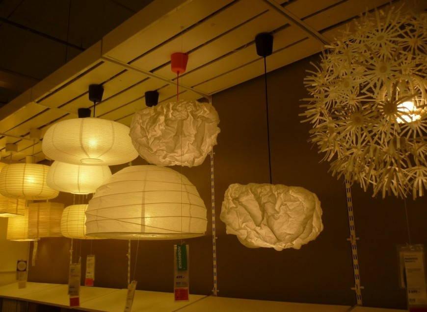 освещение в японском интерьере
