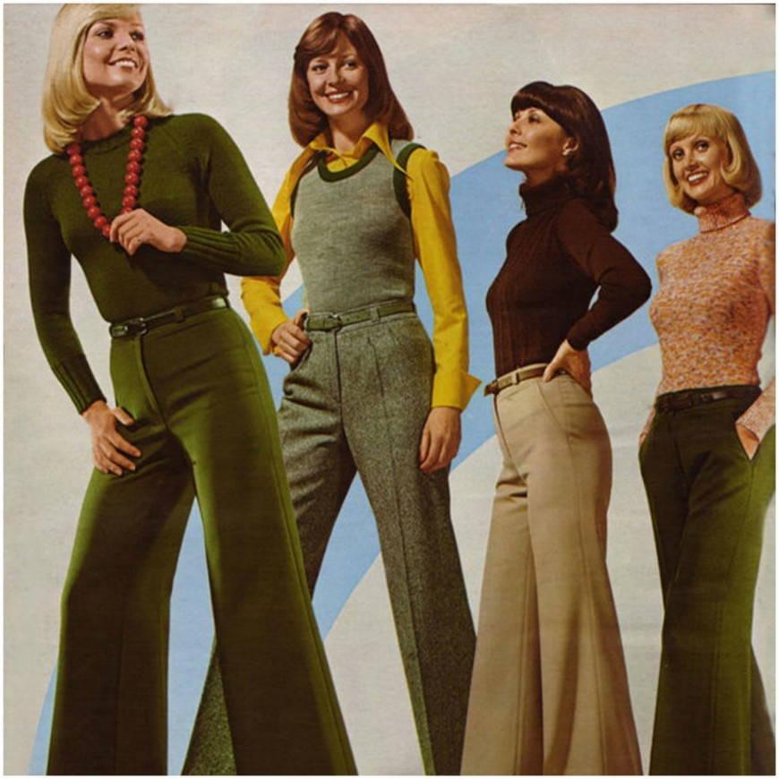 стиль хиппи-брюки клеш
