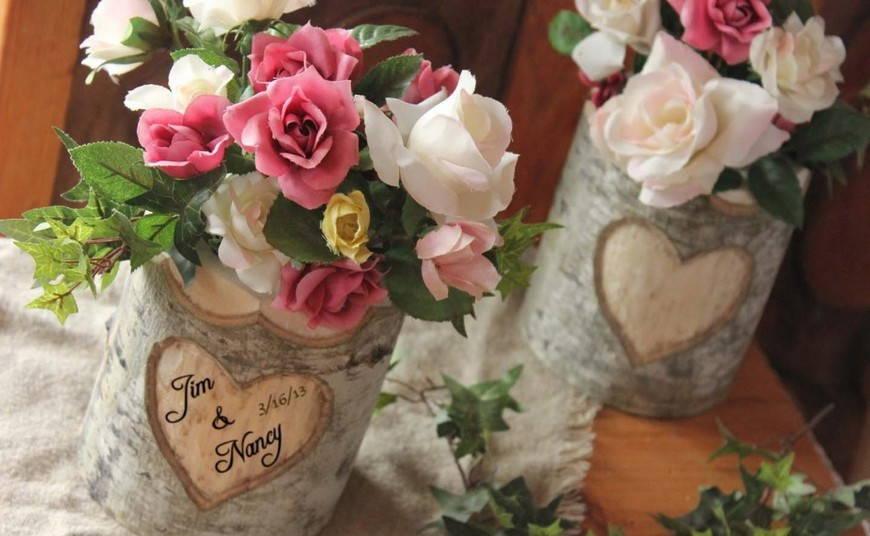 свадьба в стиле рустик- ваза