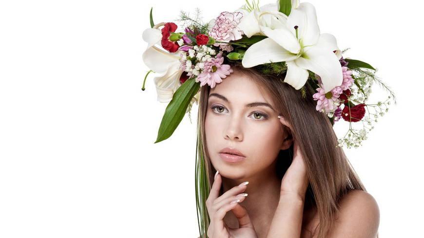 украинский венок с лилиями