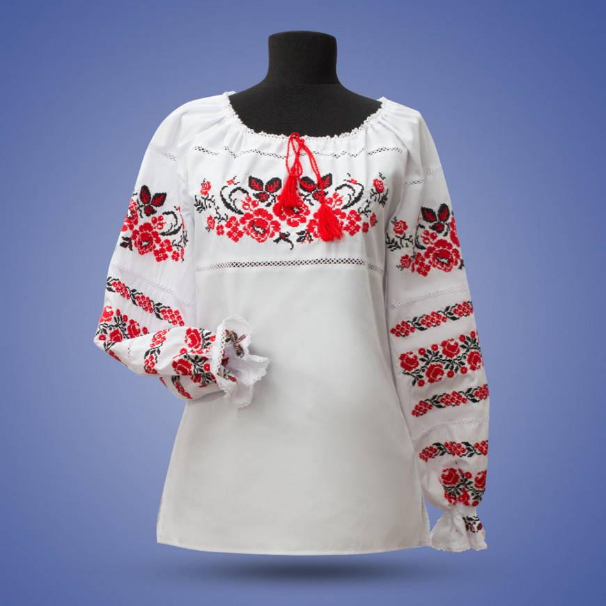 Роза-украинская вышивка