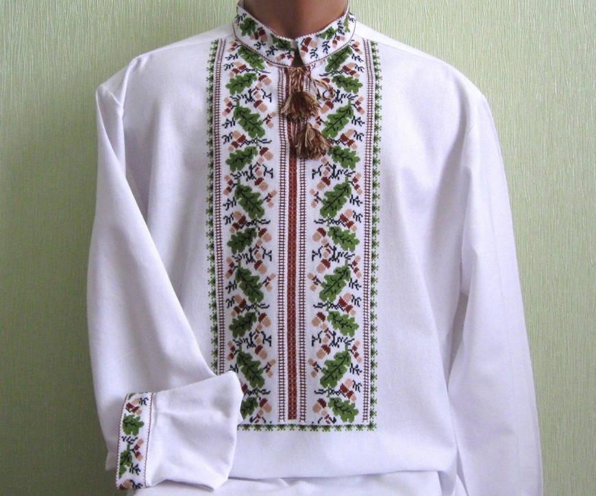 Дуб-украинская вышивка
