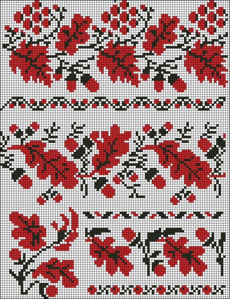 Калина схема-украинская вышивка