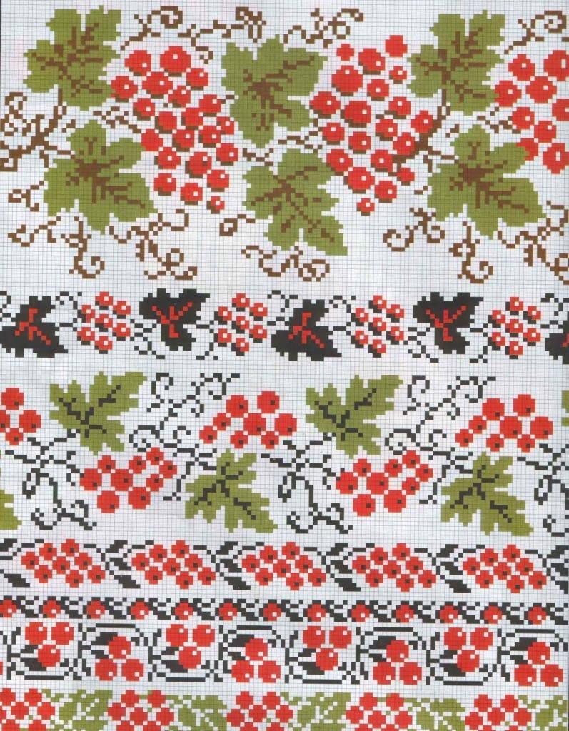 Калина- украинская вышивка