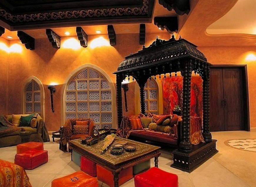 индийский стиль гостиная