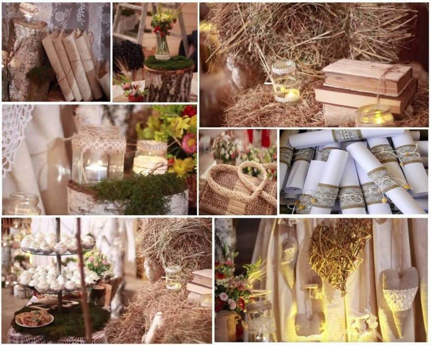 свадьба в стиле рустик материалы