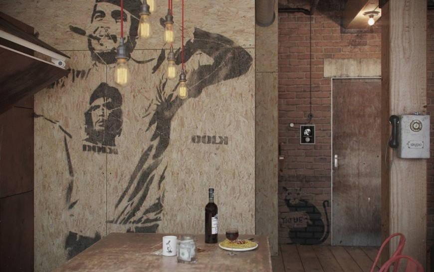 Трафарет на стене