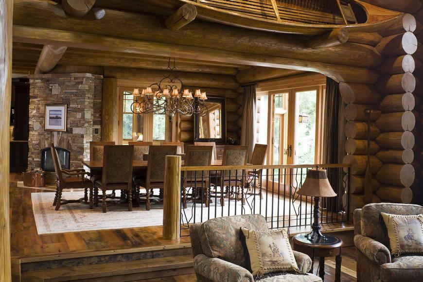 Интерьер зала совмещенного с кухней фото