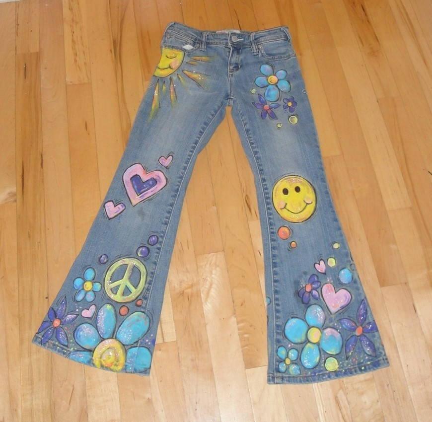 одежда хиппи-джинсы